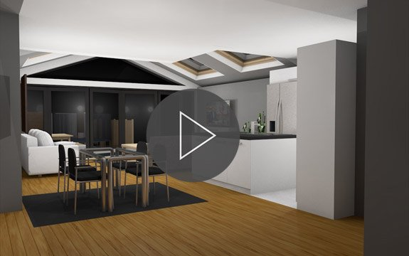 Kitchen and house extensions london design build we for Virtual home walkthrough