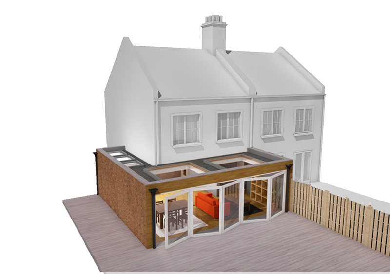 wrap around house extension london
