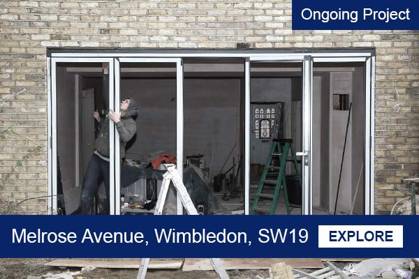 ongoing house extension project wimbledon sw19