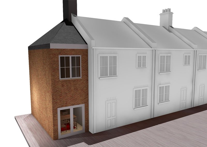 double storey side house extension london