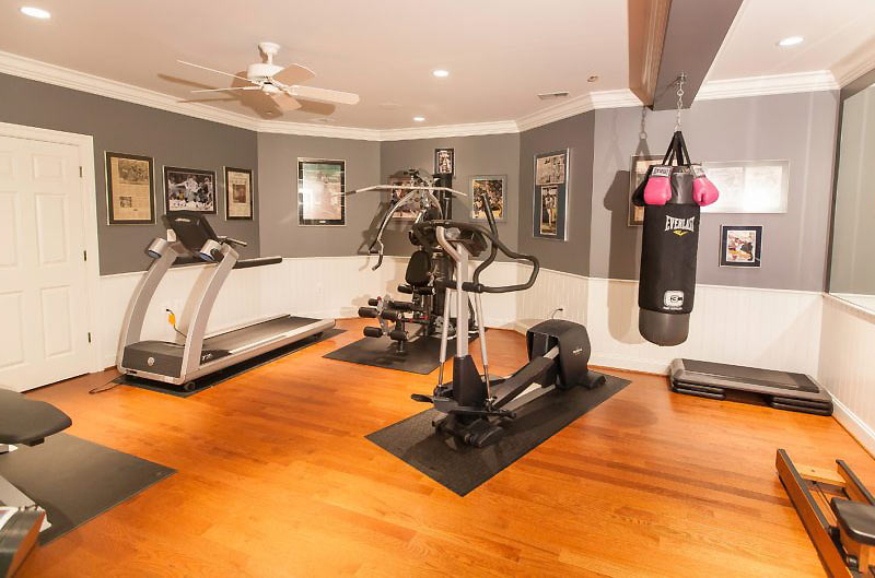 workout room basement ideas