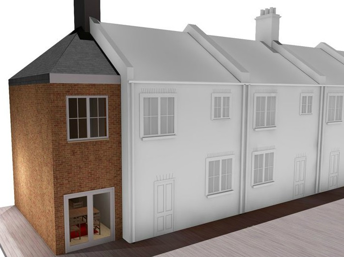 double storey house side extension london