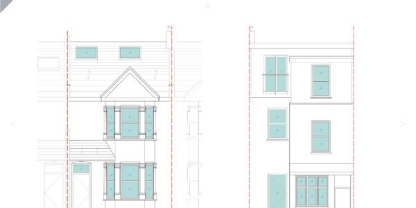 Valnay_Existing Front and rear elevation