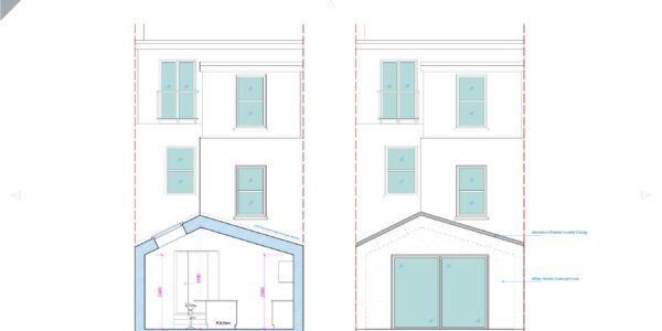 Valnay_Proposed Section BB and Rear elevation