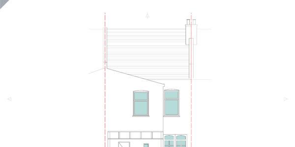 Idmiston-Existing Rear Elevation