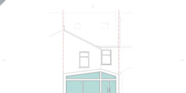 Idmiston-Proposed Rear Elevation