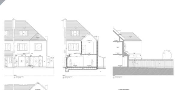 Proposed Rear and Side Elevation